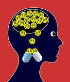 Leki psychoaktywne — Zdjęcie stockowe