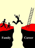 Family or Career — Stock Photo