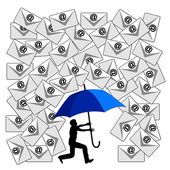 Fighting the Email Flood — Stock Photo