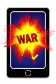 Cyberwar with Smartphone — Stock Photo