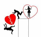 Divorce with Broken Heart — Stock Photo
