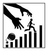 Climbing the Job Ladder — Stock Photo