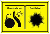 Escalation or De-escalation — Stock Photo