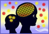 Frühe Entwicklung des Gehirns — Stockfoto
