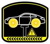 Warning Lemon Car — Stock Photo