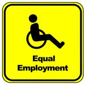 Equal Employment Sign — Stock Photo