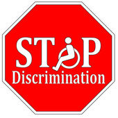 Stop Disability Discrimination — Stock Photo