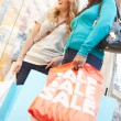 Two Female Friends With Bags In Shopping Mall — Stock Photo #59344235