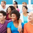 Crowd Of Spectators Watching Outdoor Sports Event — Stock Photo #59345215