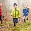 Children Running Through Autumn Forest — Stock Photo #59345807