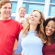 Spectators Celebrating At Outdoor Sports Event — Stock Photo #59345845