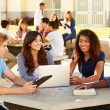 Students Hanging Out On Campus — Stock Photo #59346037