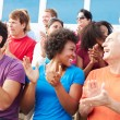 Audience Applauding At Outdoor Concert — Stock Photo #59346227