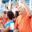 Spectators Cheering At Outdoor Sports Event — Stock Photo #59346595