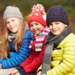 Three Children in Winter Forest — Stock Photo #59346637