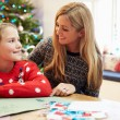 Mother And Daughter Writing Letter To Santa — Stock Photo #59346867