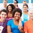 Crowd Of Spectators Watching Outdoor Sports Event — Stock Photo #59346933