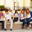 Students Hanging Out On Campus — Stock Photo #59347089