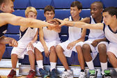 Basketball Team Having Talk With Coach — Stock Photo