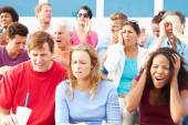 Disappointed Spectators At Outdoor Sports Event — Stock Photo