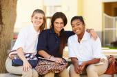 Students Hanging Out On School Campus — Stock Photo