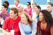 Crowd Of Spectators Watching Outdoor Sports Event — Stock Photo