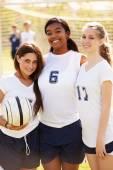 Members Of High School Soccer Team — Stock Photo