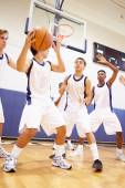 Male Basketball Team Playing Game — Stock Photo