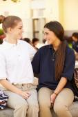 High School Students Wearing Uniform — Stock Photo