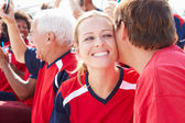 Sports Spectators Celebrating — Stock Photo