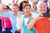 Audience Cheering At Outdoor Concert — Stock Photo