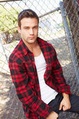 Young Man In Urban — Stock Photo