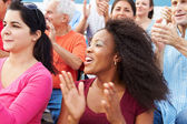 Spectators Cheering At Sports Event — Stock Photo