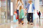 Children On Trip To Shopping Mall With Parents — Stock Photo