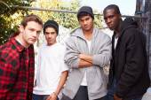 Group Of Young Men In Urban — Stock Photo