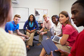 Students Taking Part In Group Discussion — Stock Photo