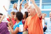 Spectators Cheering At Outdoor Sports Event — Stock Photo