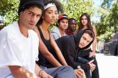 Gang Of Young People — Stock Photo