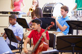 Pupils Playing Musical Instruments — Stock Photo