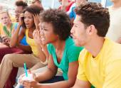 Disappointed Spectators Watching Sports Event — Stock Photo