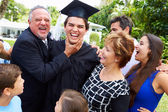 Student And Family Celebrating Graduation — Stock Photo