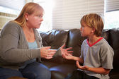 Mother Telling Off Son — Stock Photo