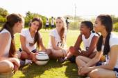 Members Of High School Soccer Team — Stock Photo
