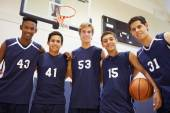 Members Of Male Basketball Team — Stock Photo