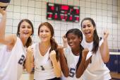 Members Of Female Volleyball Team — Stock Photo