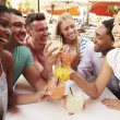 Friends Enjoying Drinks In Restaurant — Stock Photo #59873441