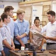 Students Plumbing Working On Washbasin — Stock Photo #59873561