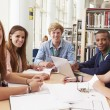 Students Working In Library — Stock Photo #59873655