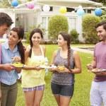 Friends Having Party In Backyard — Stock Photo #59873943