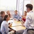 Teacher With College Students — Stock Photo #59874231